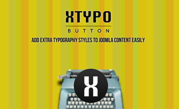 Xtypo Button joomla plugin